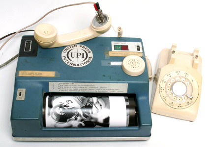 wirephotos vintage machine UPI/AP