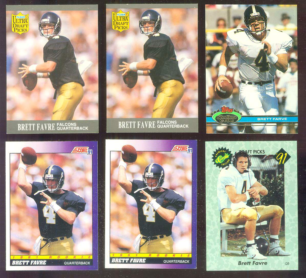 1991 Ultra #283 Brett Favre ROOKIE [#a] Football cards value