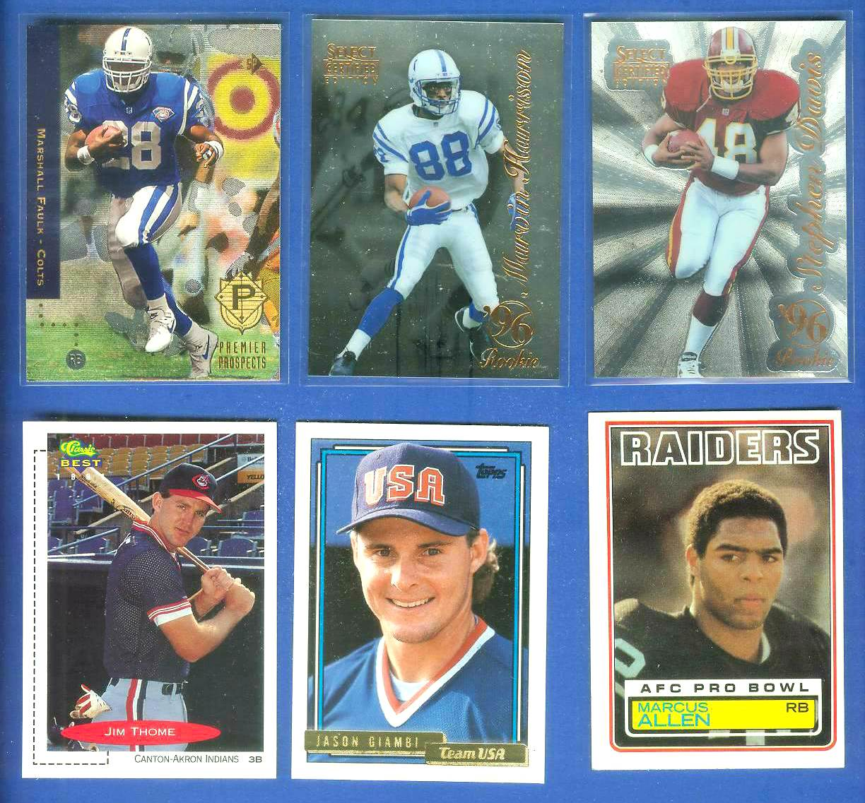 1994 SP FB #3 Marshall Faulk FOIL ROOKIE [#a] (Colts) Baseball cards value