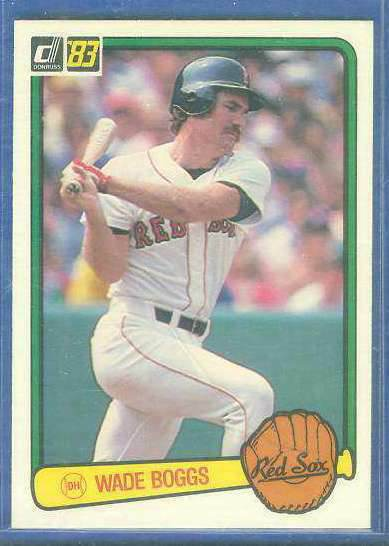 1983 Donruss #586 Wade Boggs ROOKIE (HALL-of-FAMER) (Red Sox) Baseball cards value