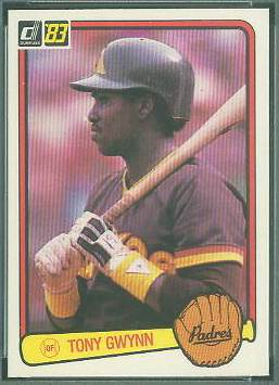 1983 Donruss #598 Tony Gwynn ROOKIE (HALL-of-FAMER) (Padres) Baseball cards value