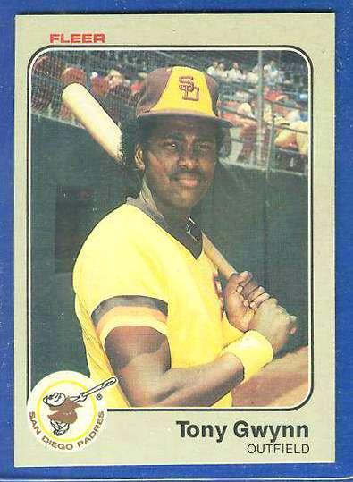 1983 Fleer #360 Tony Gwynn ROOKIE (HALL-of-FAMER) (Padres) Baseball cards value