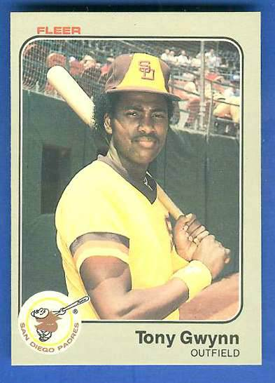 1983 Fleer #360 Tony Gwynn ROOKIE (HALL-of-FAMER) (Padres) Baseball cards value