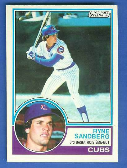 1983 O-Pee-Chee/OPC #.83 Ryne Sandberg ROOKIE (HALL-of-FAMER) (Cubs) Baseball cards value