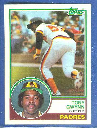 1983 Topps #482 Tony Gwynn ROOKIE (HALL-of-FAMER) (Padres) Baseball cards value