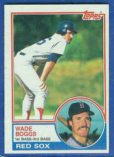 1983 Topps #498 Wade Boggs ROOKIE (HALL-of-FAMER) (Red Sox) Baseball cards value