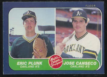Jose Canseco - 1986 Fleer #649 ROOKIE (A's) Baseball cards value