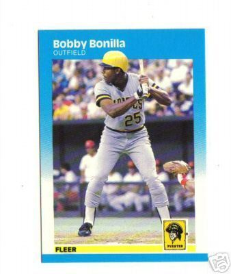 Bobby Bonilla - 1987 Fleer #605 ROOKIE (Pirates) Baseball cards value
