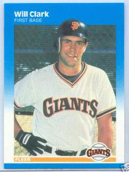 Will Clark - 1987 Fleer #269 ROOKIE (Giants) Baseball cards value