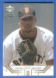 2002 UD Future Gems #25 Francisco Liriano ROOKIE (Giants) Baseball cards value