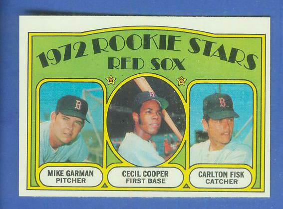 1972 Topps #.79 Carlton Fisk ROOKIE [#a] (Red Sox) Baseball cards value