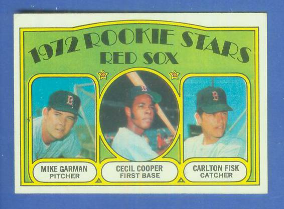 1972 Topps #.79 Carlton Fisk ROOKIE [#b] (Red Sox) Baseball cards value