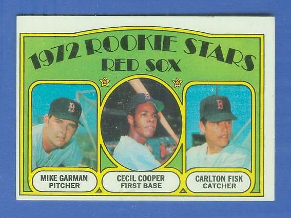 1972 Topps #.79 Carlton Fisk ROOKIE [#c] (Red Sox) Baseball cards value