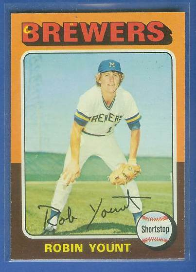 1975 Topps #223 Robin Yount ROOKIE [#c] (Brewers) Baseball cards value