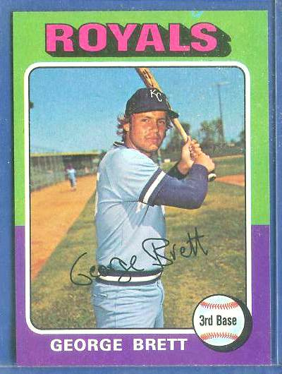 1975 Topps #228 George Brett ROOKIE [#b] (Royals) Baseball cards value