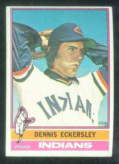1976 Topps #.98 Dennis Eckersley ROOKIE [#a] (Indians) Baseball cards value