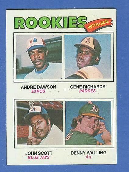 1977 Topps #473 Andre Dawson ROOKIE [#b] (Expos) Baseball cards value