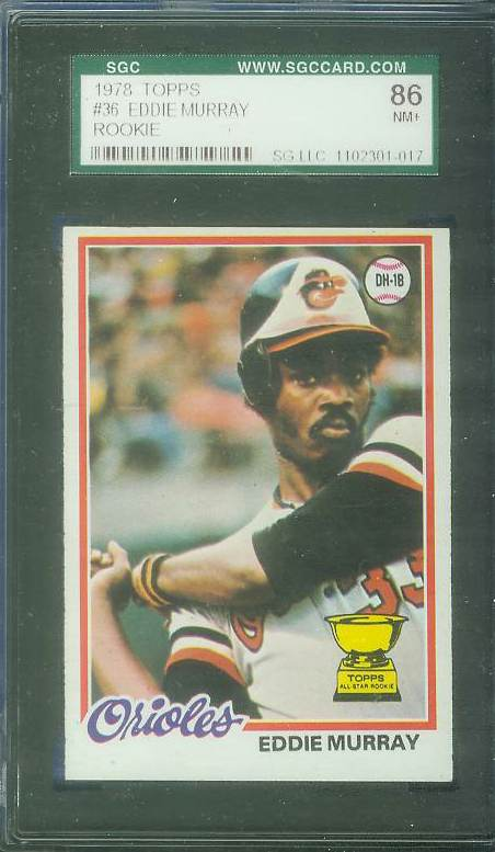 1978 Topps #.36 Eddie Murray ROOKIE [#f] (Orioles) Baseball cards value