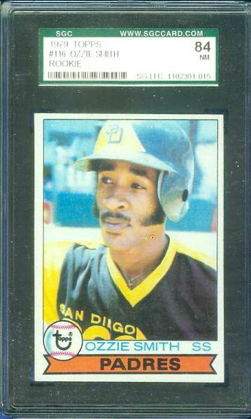 1979 Topps #116 Ozzie Smith ROOKIE [#ag] (Padres) Baseball cards value