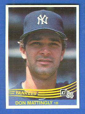 Don Mattingly - 1984 Donruss #248 ROOKIE (Yankees) Baseball cards value