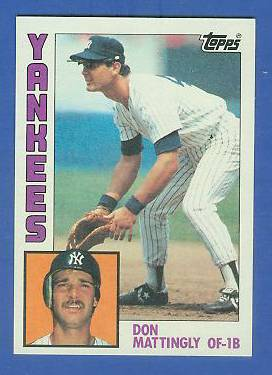 Don Mattingly - 1984 Topps #..8 ROOKIE (Yankees) Baseball cards value