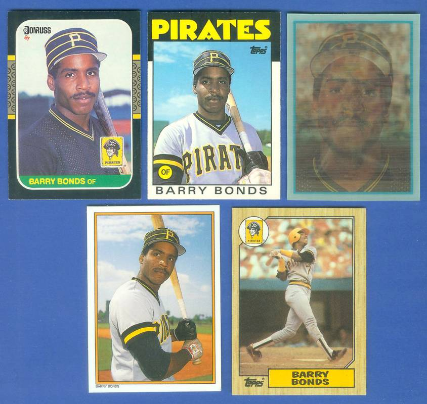 Barry Bonds -  1986-1987 LOT of (5) different ROOKIE cards Baseball cards value