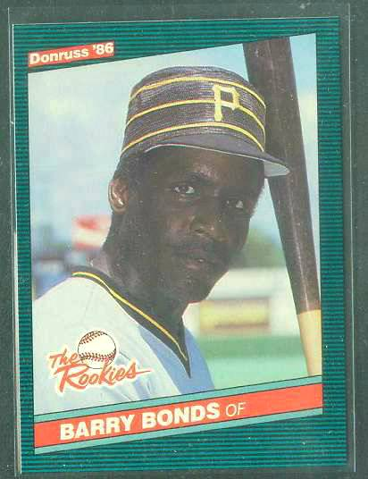 Barry Bonds - 1986 Donruss Rookies #11 ROOKIE (NEAR MINT to NM/MINT) Baseball cards value