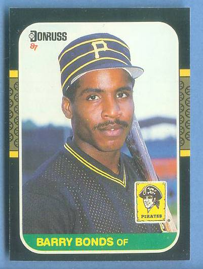 Barry Bonds - 1987 Donruss #361 ROOKIE (NM/MINT to NEAR MINT) Baseball cards value