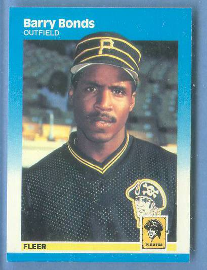 Barry Bonds - 1987 Fleer #604 ROOKIE Baseball cards value