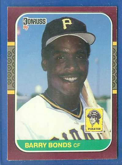 Barry Bonds - 1987 Donruss OPENING DAY #163 ROOKIE (NEAR MINT) Baseball cards value