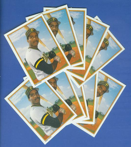Barry Bonds - 1987 Topps GLOSSY Send-Ins #30 - LOT of (10) ROOKIES Baseball cards value