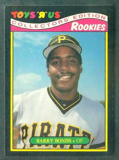 Barry Bonds - 1987 Toys 'R' Us #4 ROOKIE Baseball cards value