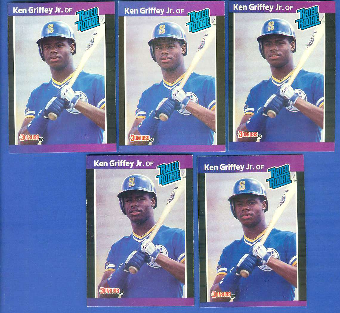 Lot Of 5 Rookie Baseball Cards With Ken Griffey Jr 1989: 1989 Donruss #33 ROOKIE