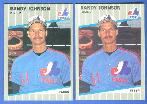 Randy Johnson - 1989 Fleer #381 ROOKIE [Scoreboard Black] (Expos) Baseball cards value