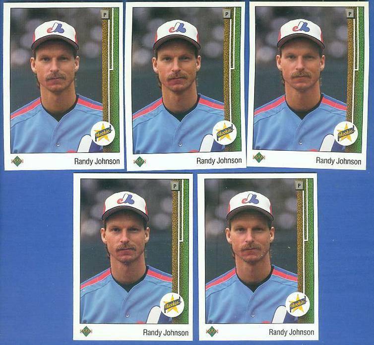 Randy Johnson - 1989 Upper Deck #25 - Lot of (5) ROOKIE cards (Expos) Baseball cards value