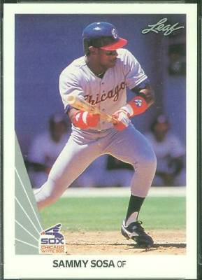 Sammy Sosa - 1990 Leaf #220 ROOKIE Baseball cards value