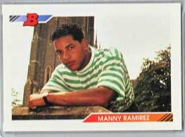 1992 Bowman #532 Manny Ramirez ROOKIE Baseball cards value