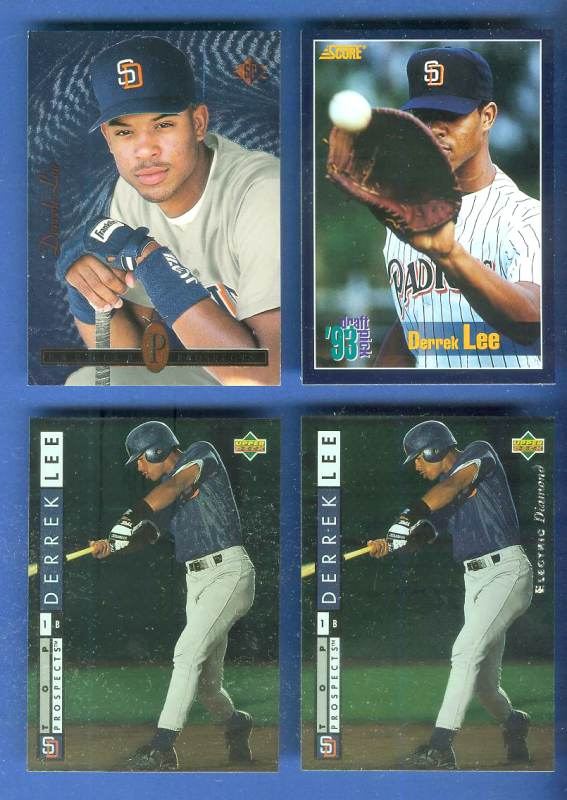 Derrek Lee - 1994 Upper Deck #539 ELECTRIC DIAMOND ROOKIE (Padres) Baseball cards value