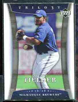 2005 Upper Deck Trilogy #.79 Prince Fielder ROOKIE Baseball cards value