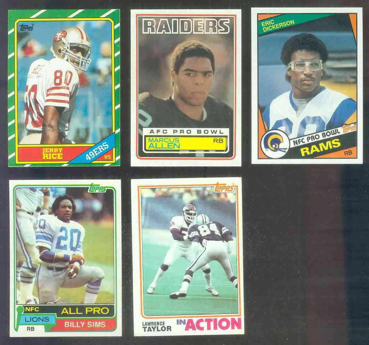 1984 Topps FB #280 Eric Dickerson ROOKIE [#b] (Rams) Baseball cards value