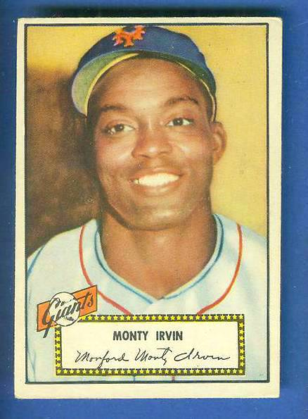 1952 Topps #.26 Monty Irvin (NY Giants) Baseball cards value