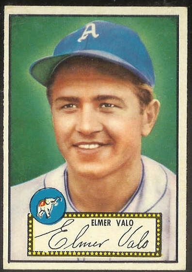 1952 Topps #.34 Elmer Valo RED-BACK [#b] (Philadelphia A's) Baseball cards value