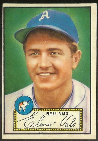 1952 Topps #.34 Elmer Valo RED-BACK [#c] (Philadelphia A's) Baseball cards value