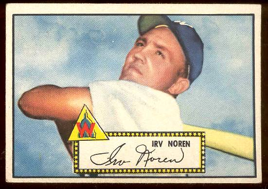 1952 Topps #.40 Irv Noren [#a] (Senators) Baseball cards value