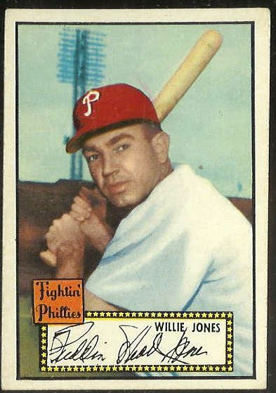 1952 Topps #.47 Willie Jones BLACK-BACK (Phillies) Baseball cards value