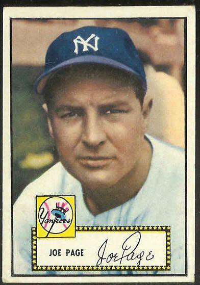 1952 Topps #.48 Joe Page (Corrected) BLACK-BACK (Yankees) Baseball cards value
