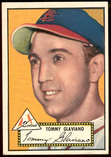 1952 Topps #.56 Tommy Glaviano BLACK-BACK [#a] (Cardinals) Baseball cards value