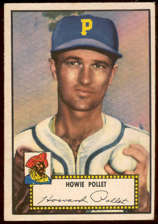 1952 Topps #.63 Howie Pollet (Pirates) Baseball cards value