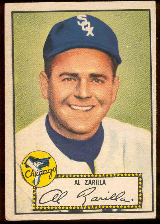 1952 Topps #.70 Al Zarilla (White Sox) Baseball cards value