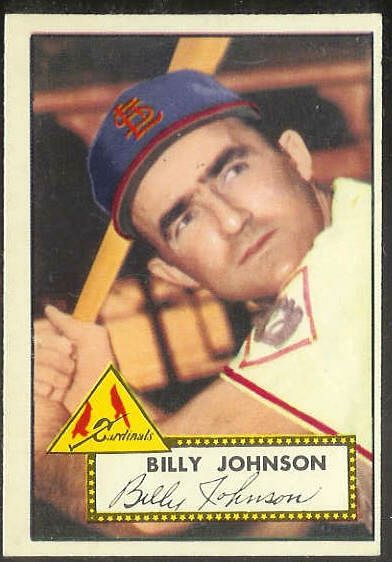 1952 Topps #.83 Billy Johnson [#b] (Cardinals) Baseball cards value